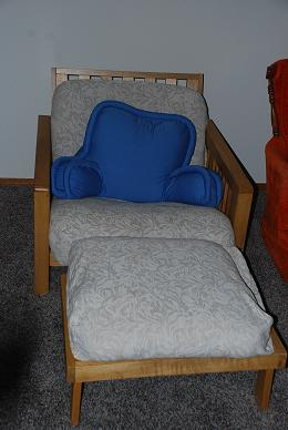 Our Futon bed - for an extra guest