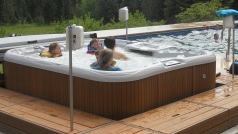 Kids love the hot tub!