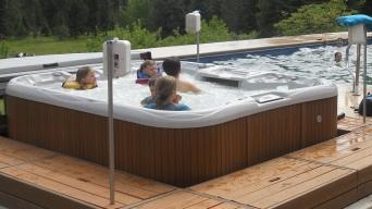 Kids love the hot tub!