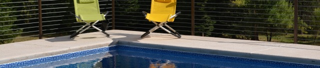 chairs on pool deck