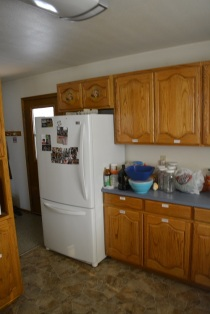 ranch house kitchen refrigerator area