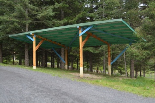 The carport for guest parking.