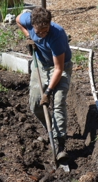 Alex upgrades our garden among many other projects.