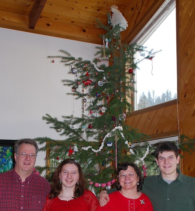 The Staab family enjoying Christmas at Lifewater Ranch