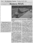 An article in the local paper describing our new pool liner operation.